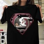 Florida state seminoles superman logo style american flag for fan t shirt hoodie sweater sweater