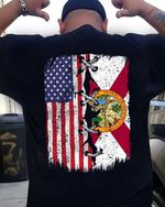 American flag and alabama flag seal of florida t shirt hoodie sweater sweater