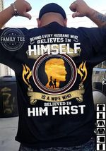 Offfcial behind every husband who believes in himself is a wife who believed in him first t shirt hoodie sweater sweater