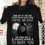 Reaper cat four out of the five voices in my head think you're an idiot funny t shirt hoodie sweater sweater