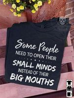 Some people need to open their small minds instead of their big mouths funny t shirt hoodie sweater sweater