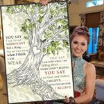 Lauren daigle you say lyric love tree for fan poster