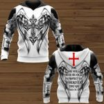 Jesus for he will order his angels protect you wherever you go psalm 91 11 bible 3d printed god hoodie