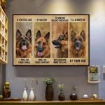 German shepherd if you feel sad i will be your smile poster canvas