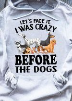 Let's face it i was crazy before the dogs hoodie