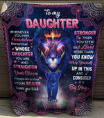 To my daughter whenever you feel overwhelmed remember whose daughter you are straighten your crown dad lion mandala pattern Quilt Blanket