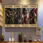 power ranger be strong when you weak poster canvas poster canvas