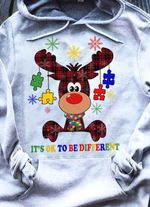Autism it's ok to be different reindeer christmas decor for lovers hoodie
