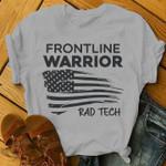 Frontline warrior rad tech us flag for lovers shirt
