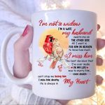 Cardinals i'm widew i'm a wife my husband i miss him dearly he is always in my heart mug