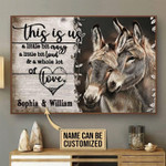 This is us a little bit crazy little bit loud and whole lot of love donkey couples poster poster canvas