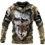 Wolf love camo wild beast 3d printed hoodie for lovers