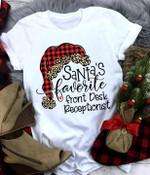 Santa's favorite front desk receptionist tshirt
