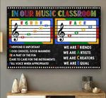 In our music classroom everyone is important good choices good manners poster