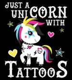 Just a unicorn with tattoos for lovers shirt