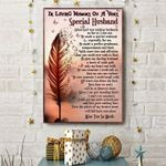 In loving memory of a very special husband leaf butterfly poster