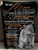 To my mom you gave me love and watched me grow taught me things i'd need to know comforted me son lion