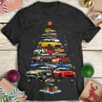 Porsche car christmas tree for lovers shirt Tshirt Hoodie Sweater