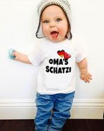 Oma's schatzi hearts german shirt