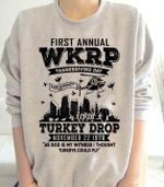First annual wkrp thanksgiving day turkey drop sweater for fans