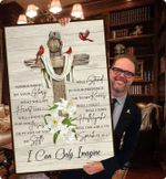 I can only imagine lyric mercyme cross poster canvas