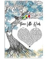 Three little birds lyric bob marley and the wailers poster canvas for fans