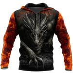 Fire dragons 3d printed hoodie