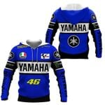 Yamaha valentino rossi 46 3d printed hoodie for fan