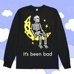 Skull sit on the moon it's been bad sweater