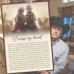 George strait i cross my heart lyric old couple poster