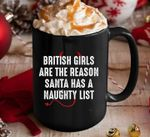 British are the reason santa has a naughty list mug