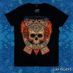 Skull wings patterns tshirt