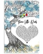 Bob marley and the wailers three little birds lyric poster canvas for fans