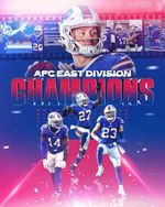 Bufflo Bills AFC east division champions