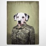 The Army Woman Veteran Custom Pet