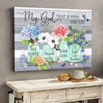 My god that is who you are way maker miracle worker promise keeper light in darkness hummingbird poster