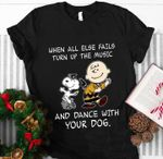 Snoopy when all else fails turn up the music and dance with your dog for fan