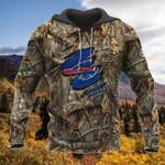 Buffalo bills camouflage nfl logo 3d printed hoodie for fan