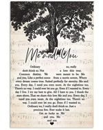 Kenny Chesney me and you heart lyrics typography poster