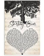 Chris stapleton starting over heart lyrics typography for fan poster