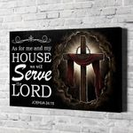 God as for me and my house we will serve the lord joshua 24 15 bible jesus poster