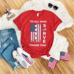 American to all who serve thank you shirt