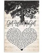 Jason Aldean Got What I Got heart lyrics typography for fan poster