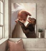 Labrador hold jesus hand god lovers poster