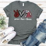 Peace love alabama crimson tide elephant leopard heart for fan