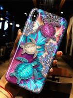 Turtle ocean flowers pattern for lovers