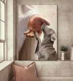 weimaraner take my hand god hand for lovers poster