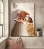 English bulldog god hand for lovers poster