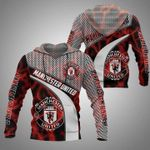 Manchester united logo fire 3d printed hoodie for fan