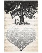 Lee brice rumor heart lyrics typography for fan poster